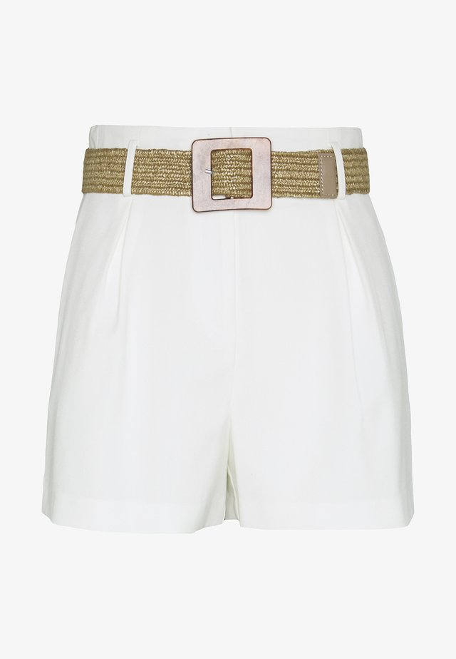 WICKER BELT - Shorts - ivory