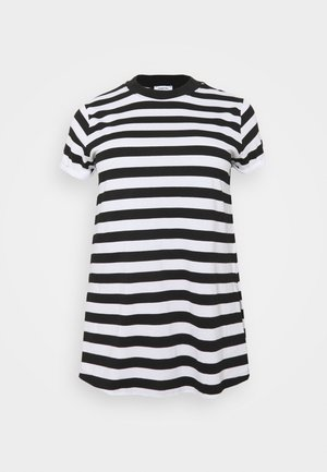 HIGH NECK SPLIT SIDE - Print T-shirt - black