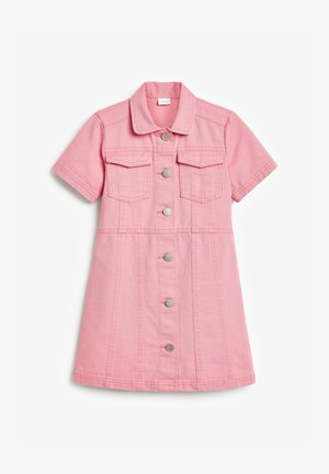 FITTED - Denim dress - pink
