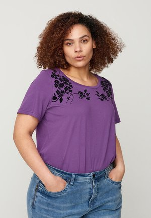 Print T-shirt - purple