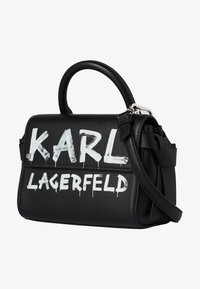 KARL LAGERFELD - Torba na ramię - black/ white - 1