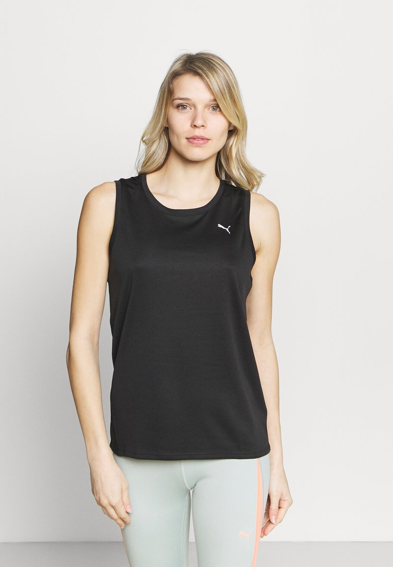 Puma - RUN FAVORITE TANK  - Sports shirt - black