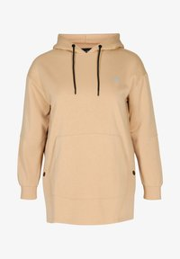 Active by Zizzi - Hoodie - sand - 1