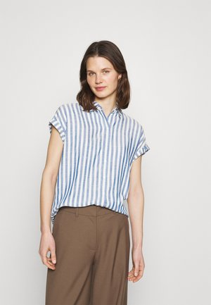 STRUCTURE STRIPE - Button-down blouse - mid blue/white