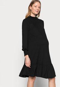 Dorothy Perkins Maternity - SHIRRED YOKE DRESS - Jersey dress - black - 3