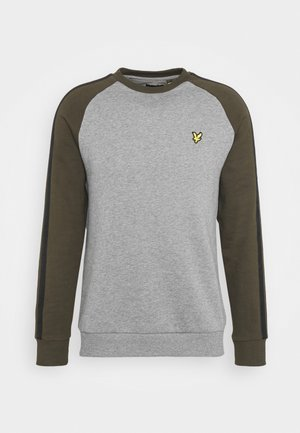 COLOUR BLOCK CREW - Sweater - mid grey marl