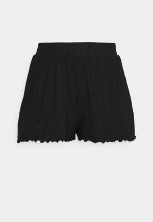 Lettuce Hem Shorts - Shorts - black