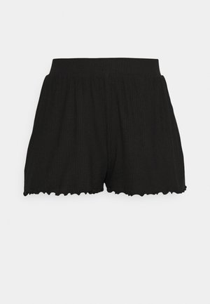 Lettuce Hem Shorts - Shortsit - black