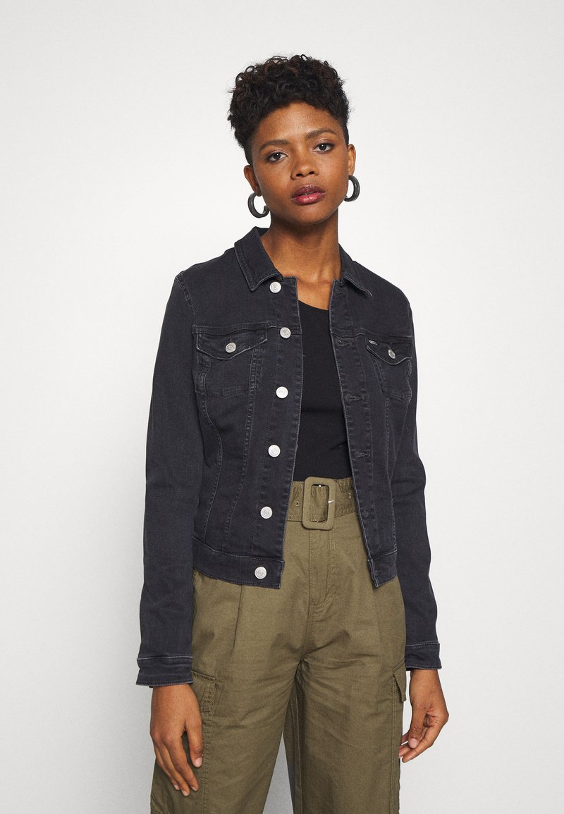 Tommy Jeans - VIVIANNE SLIM TRUCKER - Denim jacket - bird black stretch