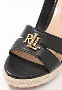 Lauren Ralph Lauren - HALE CASUAL - High heeled sandals - black - 2