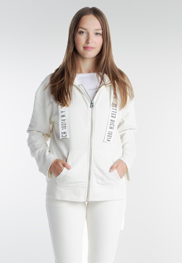 Zip-up hoodie - milky