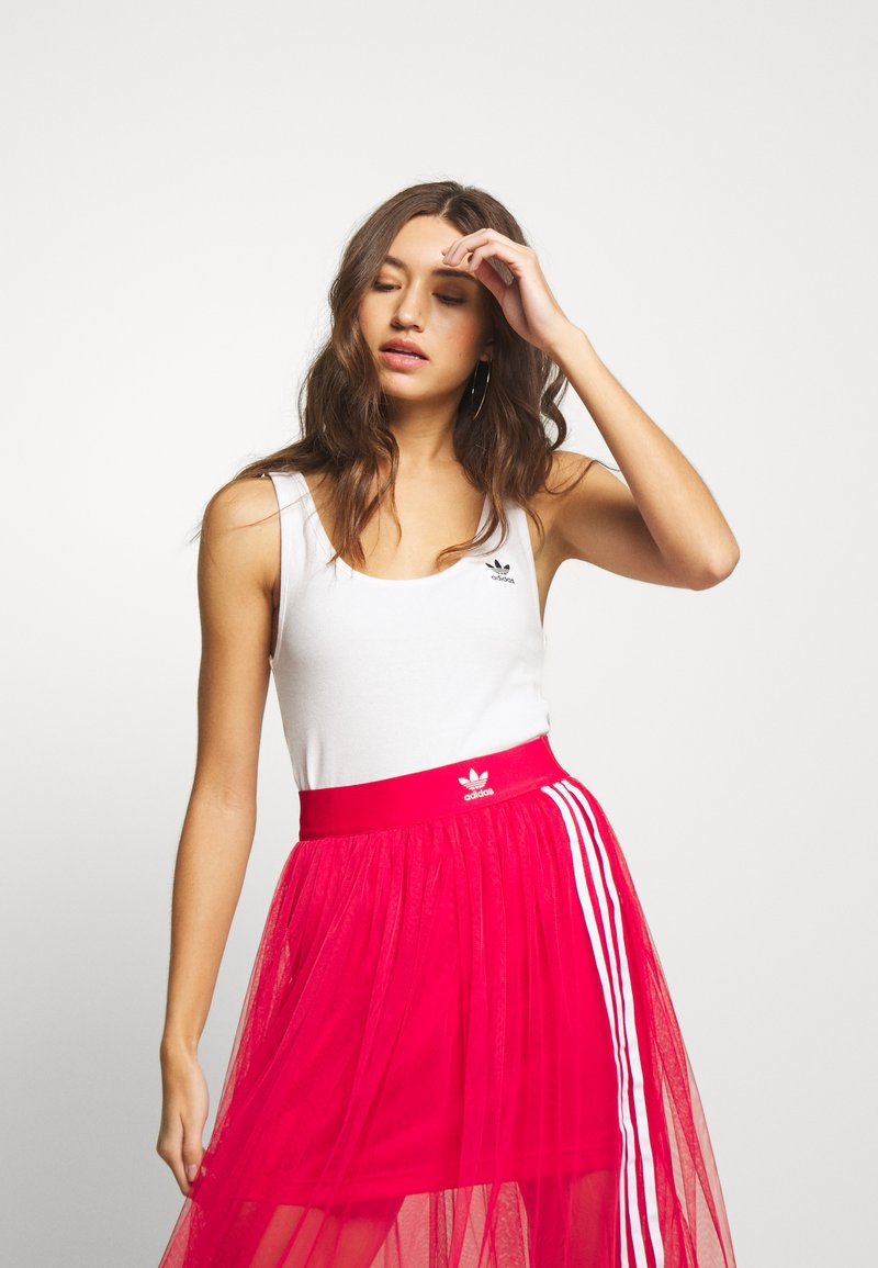 adidas Originals - ADICOLOR TREFOIL TANK - Top - white/black