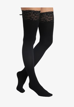 FANCY RIBBON - Overknee-strømper - black