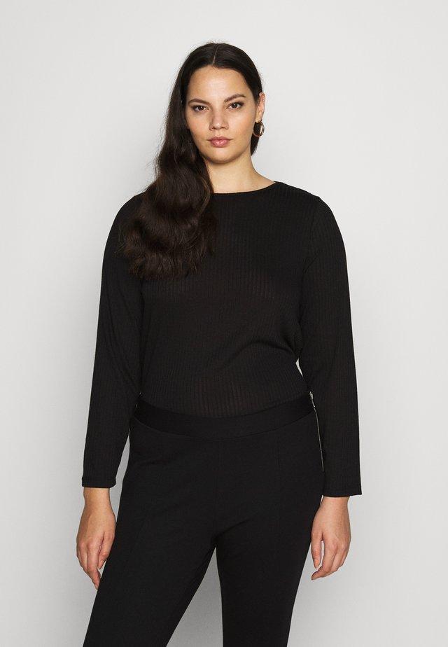 PCSARANA - Langærmede T-shirts - black