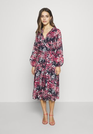 CLUSTER FLORAL FIT AND FLARE DRESS - Vestido informal - ink