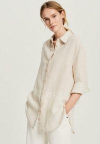 Opus - FYTHON RAW - Button-down blouse - beige - 0