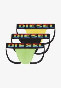 Diesel - 3 PACK - Slip - black/yellow/green - 0