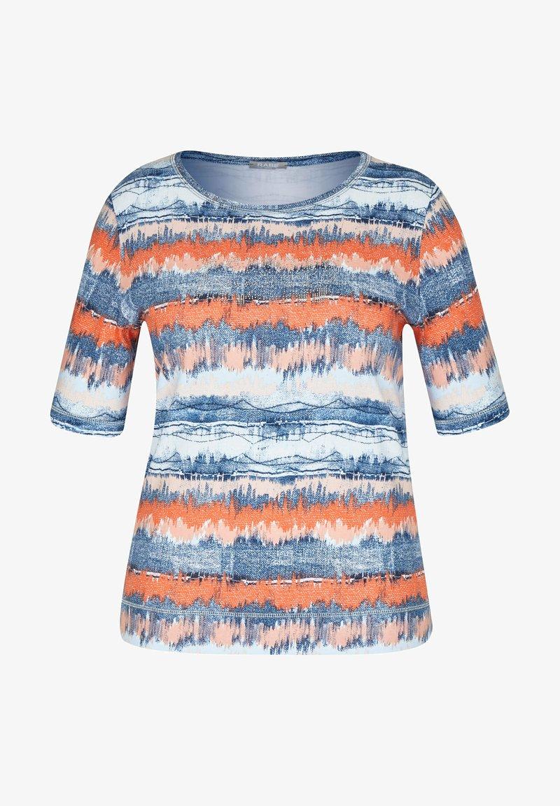 Rabe 1920 - MIT GESTREIFTEM BATIKDRUCK UND STRASS-STEINEN - Print T-shirt - blau