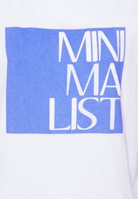 comma casual identity - KURZARM - Print T-shirt - white - 2