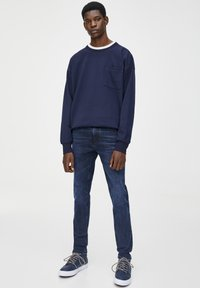 PULL&BEAR - Jeans slim fit - dark-blue denim - 1