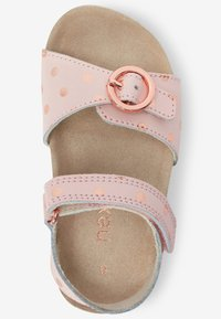 Next - GOLD GLITTER CORKBED BUCKLE - Baby shoes - light pink - 2