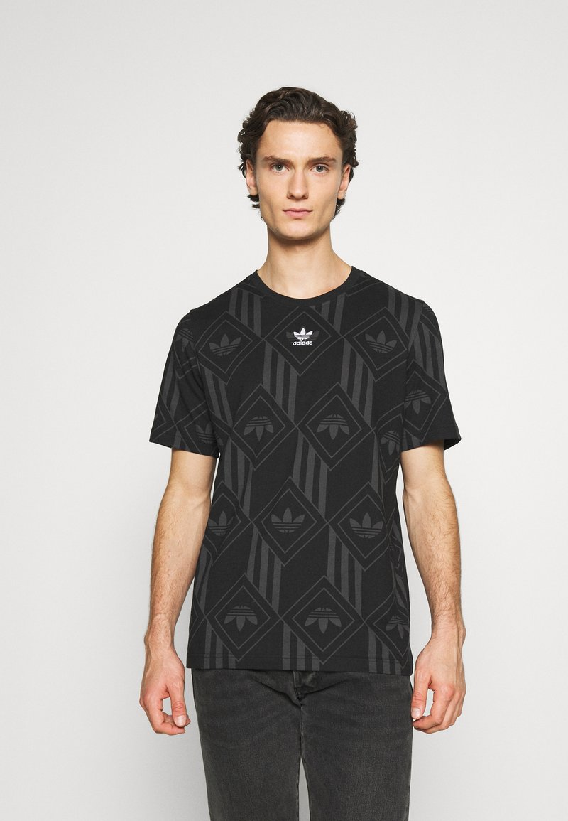 adidas Originals - MONO TEE  - T-shirt imprimé - black