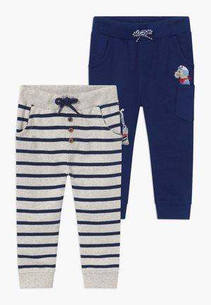 2 PACK - Trousers - dark blue