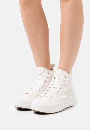 CHUCK TAYLOR ALL STAR MOVE - Sneakers hoog - egret/dusk pink/vintage white