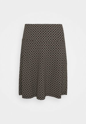 BORDER SKIRT FRESNO - Minisukně - black