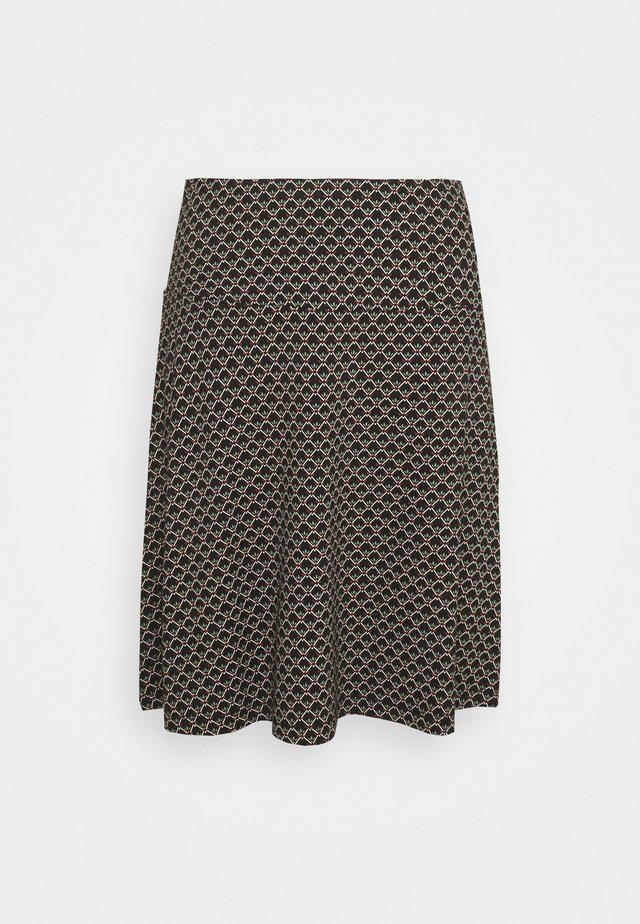 BORDER SKIRT FRESNO - Mini skirt - black