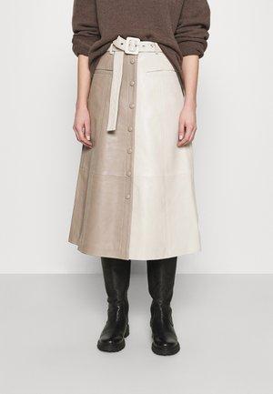 ROXANNE SKIRT - Áčková sukně - beige