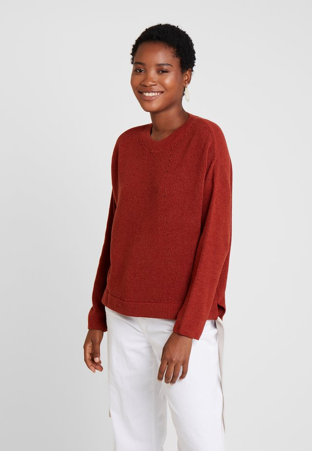 GROSSGRAIN DETAILED - Pullover - tile red