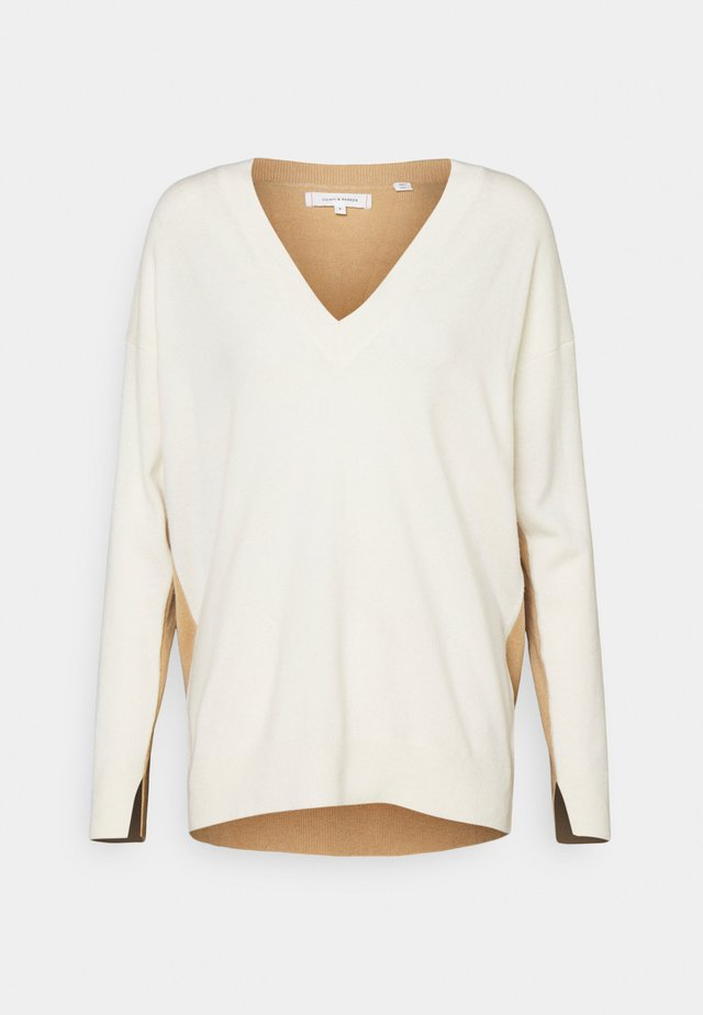 THE BOXY - Pullover - cream/biscotti