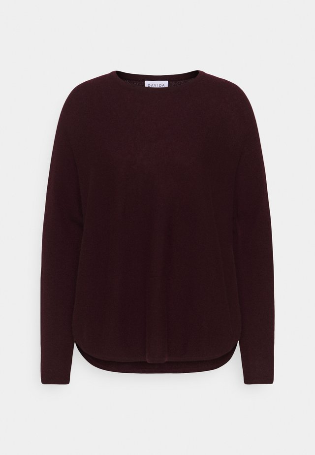 CURVED - Jumper - dark plum