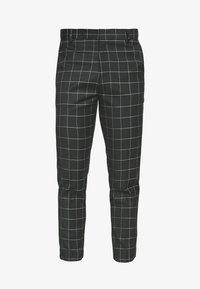 New Look - GRID CROP  - Kalhoty - 38-dark green - 3