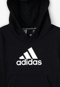 adidas Performance - ESSENTIALS SPORTS INSPIRED HOODED - Kapuzenpullover - black/white - 4