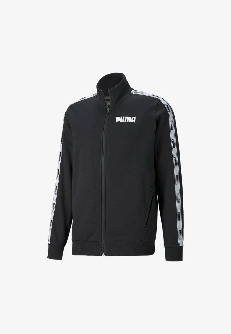 Puma - TAPE FRENCH TERRY FULL-ZIP TRACK - Tröja med dragkedja - cotton black