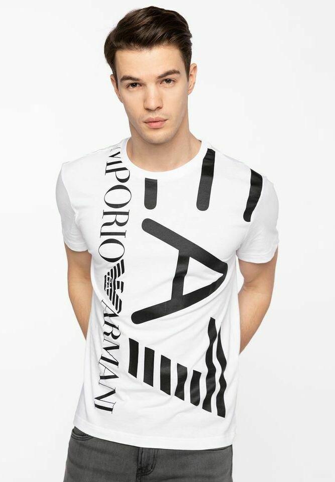 Emporio Armani - T-shirt con stampa - white