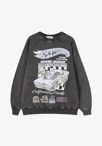 PULL&BEAR - Mikina - mottled dark grey - 5