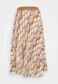 More & More - SKIRT MIDI - A-line skirt - powder creme/multicolor - 0