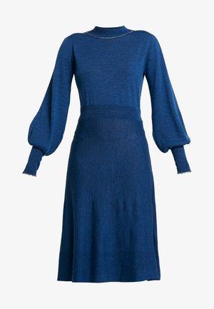 Jumper dress - blue melange