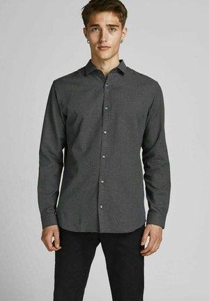 SLIM FIT DOBBY - Shirt - black