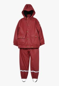mikk-line - RAIN SET 2-IN-1 - Waterproof jacket - burnt russet - 0
