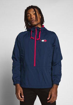 CONTRAST ZIP POPOVER - Summer jacket - twilight navy