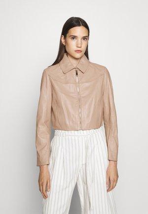 MICRON - Leather jacket - powder pink