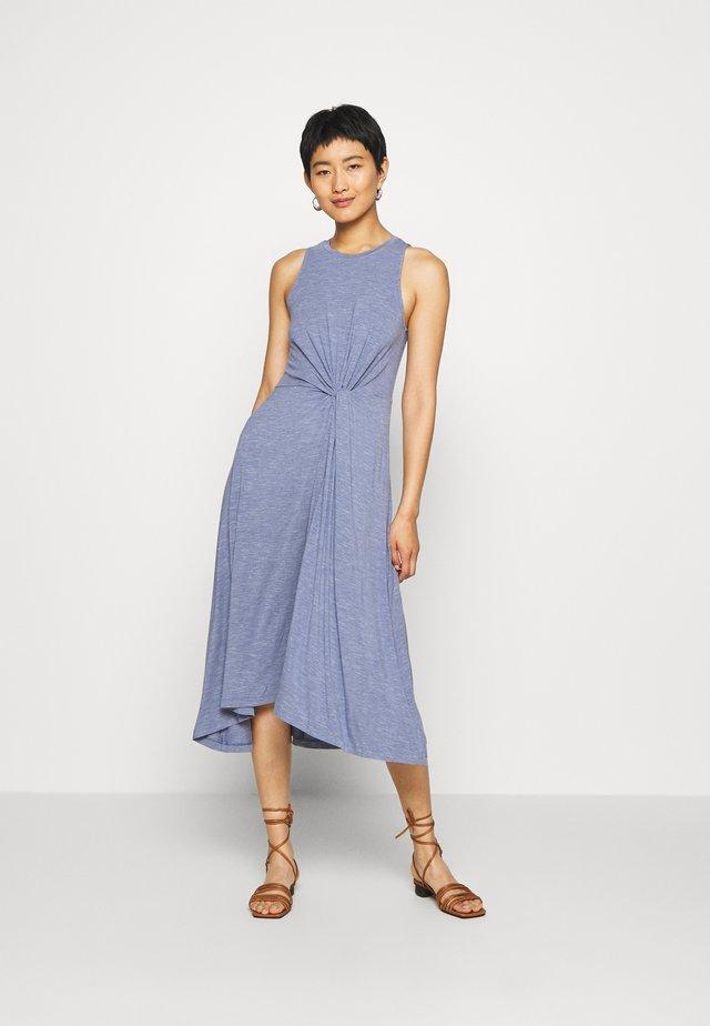 KNOT WAIST - Jerseykleid - blue heather