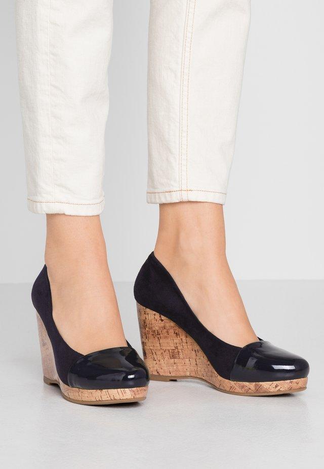 CAROLINA - Zapatos altos - navy