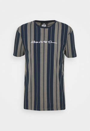 ALVERTON STRIPE TEE - T-shirt imprimé - navy/grey