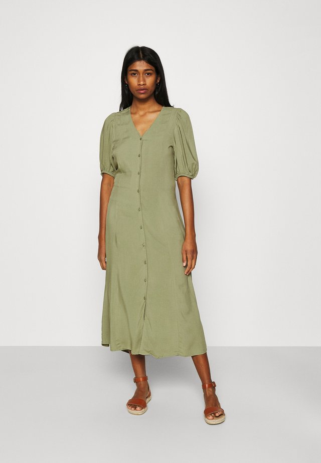 JOELLA MIDI DRESS  - Korte jurk - oil green