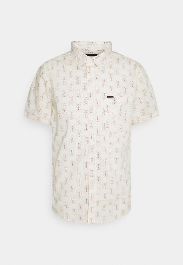 CHARTER PRINT - Overhemd - off white/cowhide